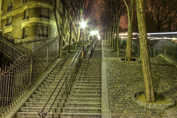 Stairs to Sacre Coeur