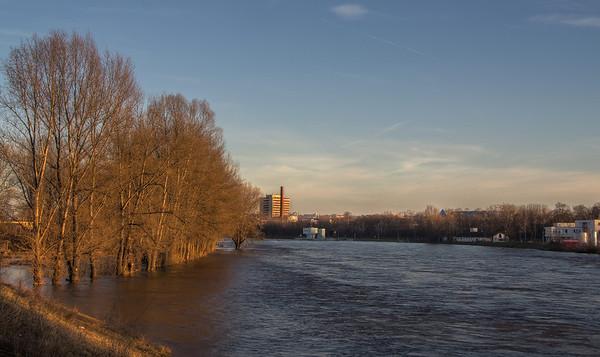 River Vltava in Troja