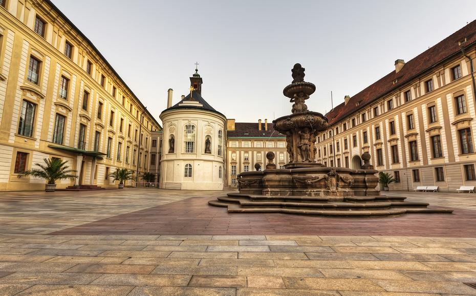 Fountain at Prague Castle