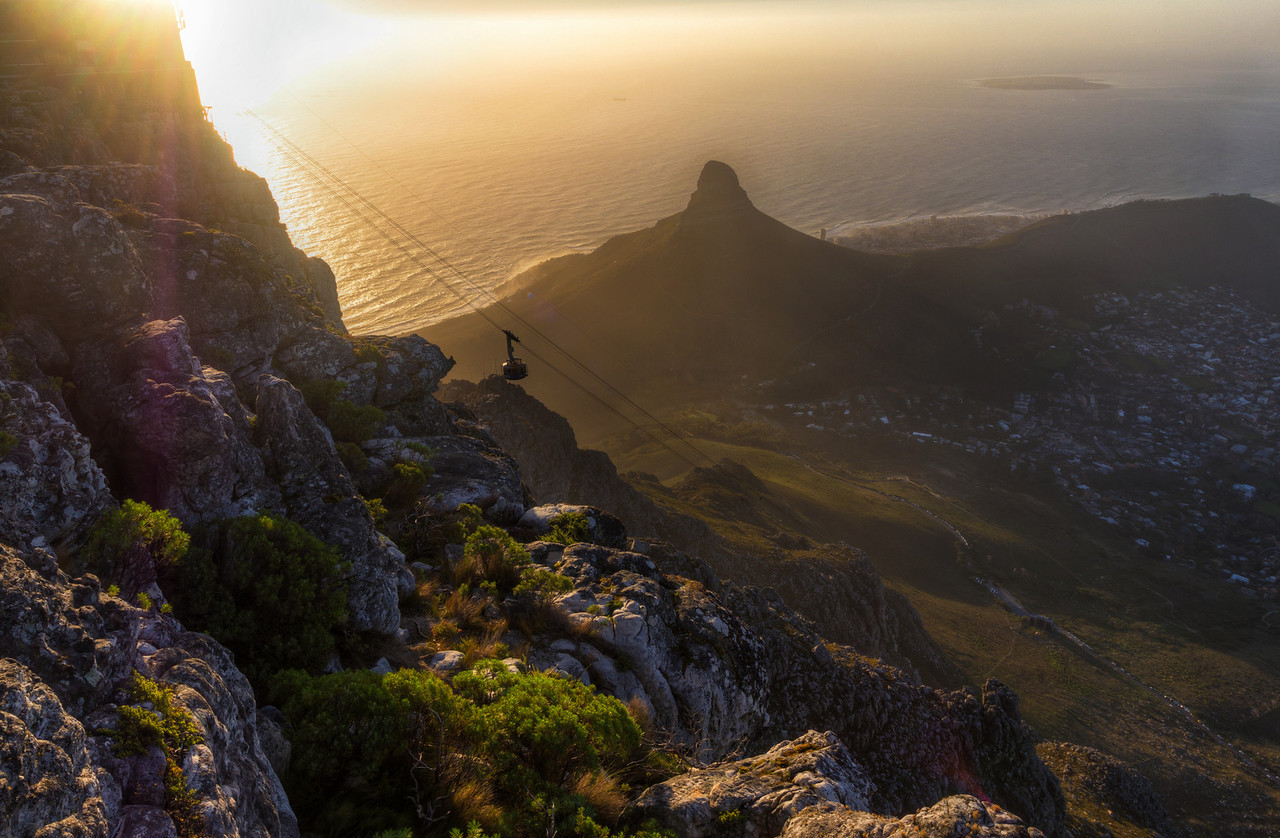 View from the Table Mountain in Cape Town