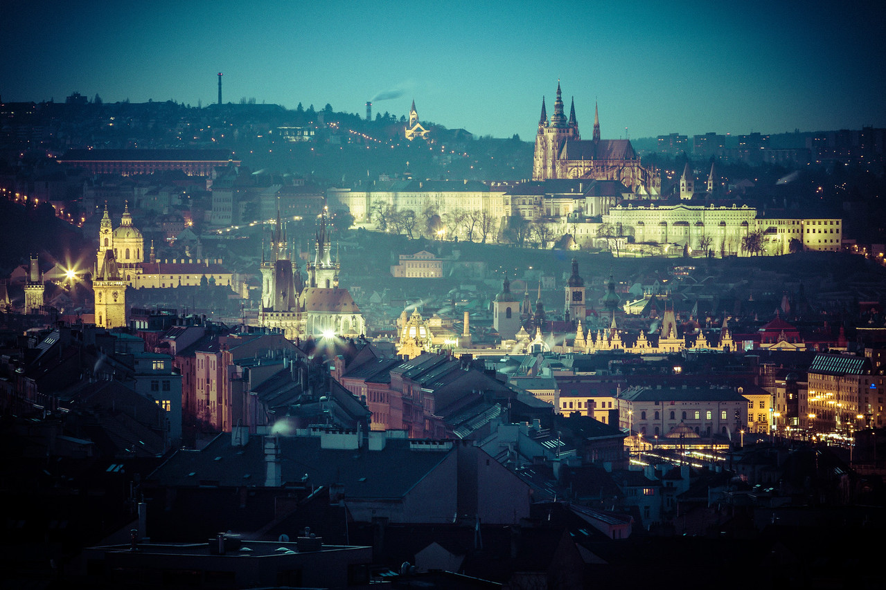 Prague Castle from Zizkov