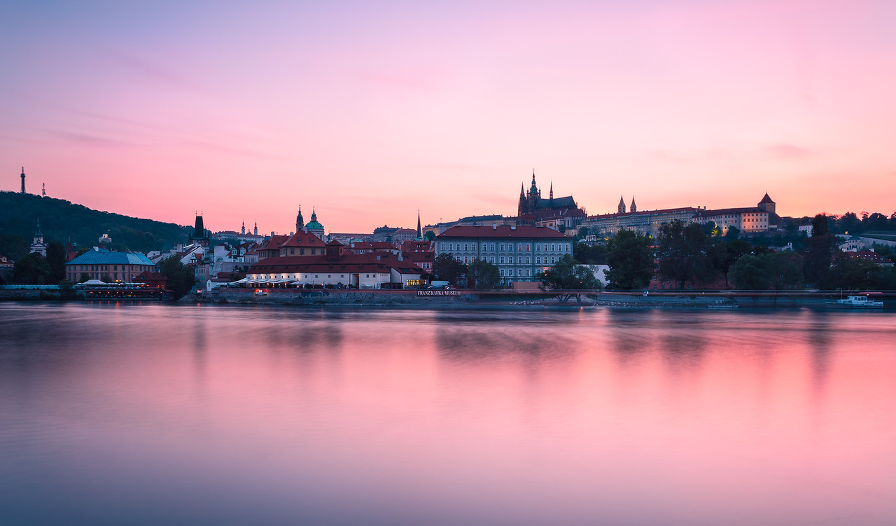 Colorful Sunset in Prague