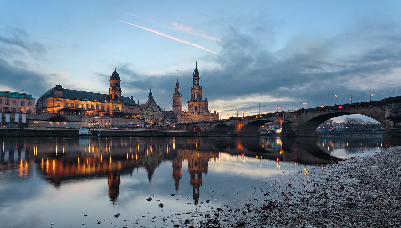 Cold Evening in Dresden