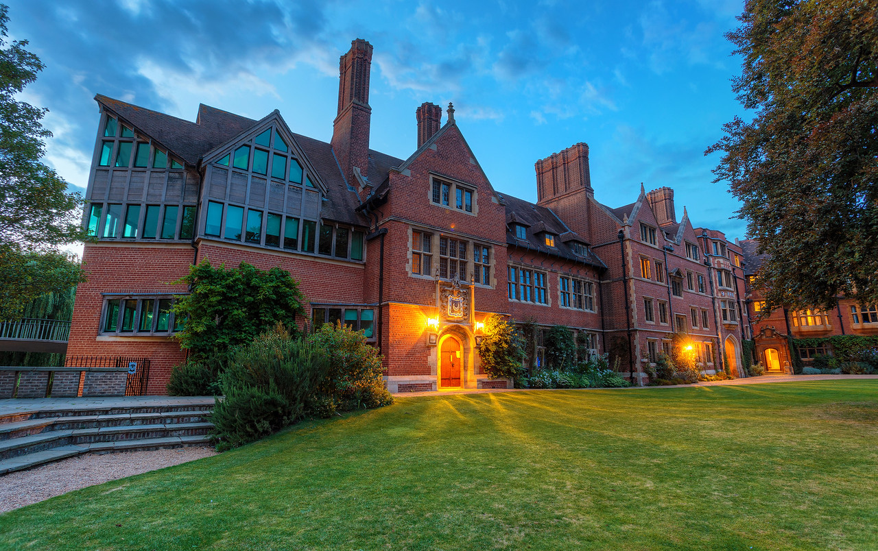 Trinity Hall at Sunset
