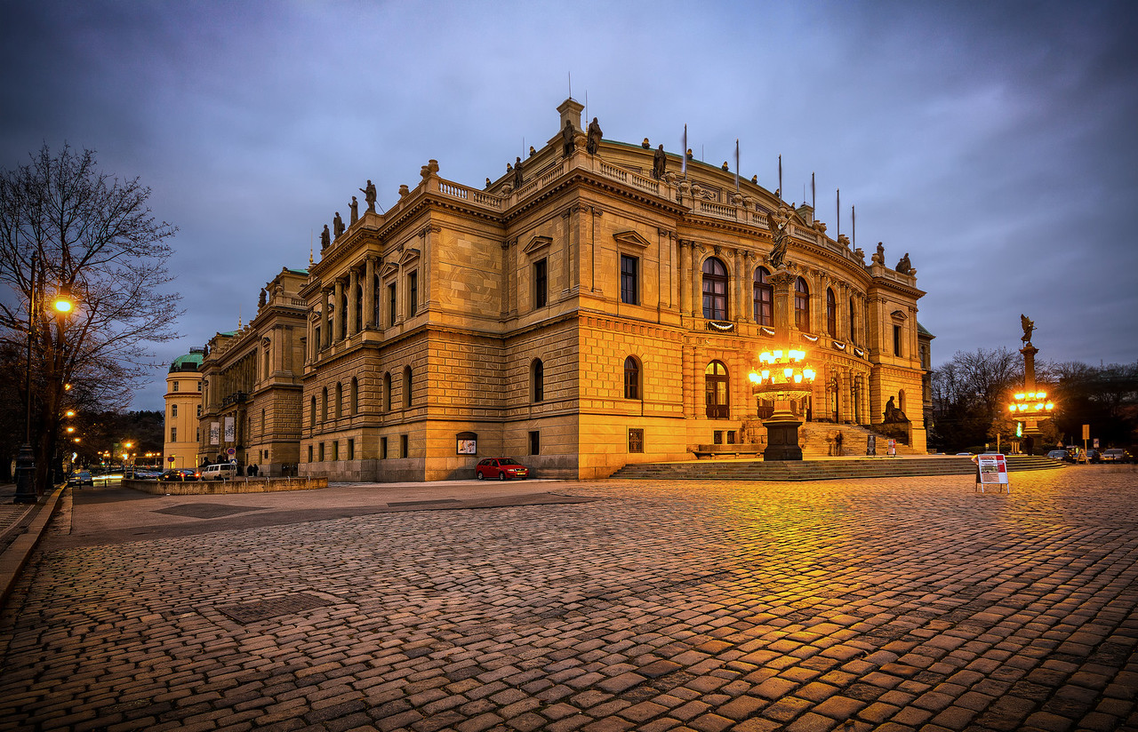 Rudolfinum in the Evening
